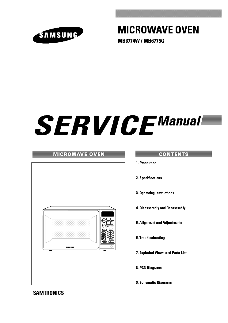 SAMSUNG MB6774W SAM Service Manual download, schematics