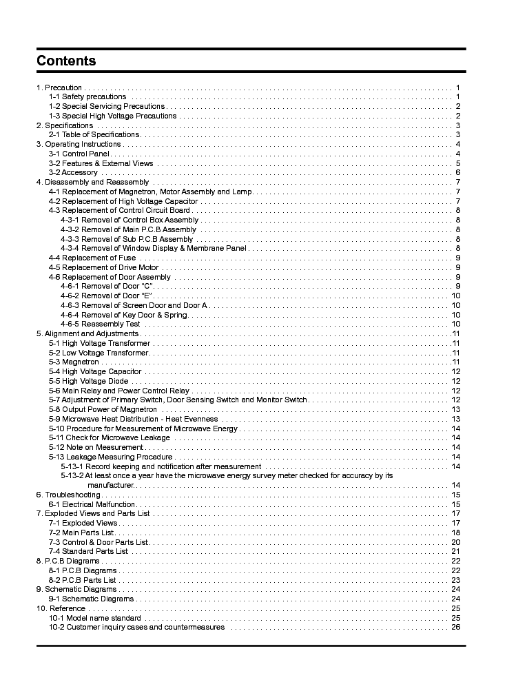 SAMSUNG MD800WC SC Service Manual download, schematics