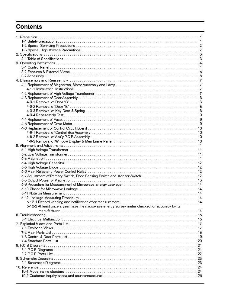 SAMSUNG MR1034BD Service Manual download, schematics