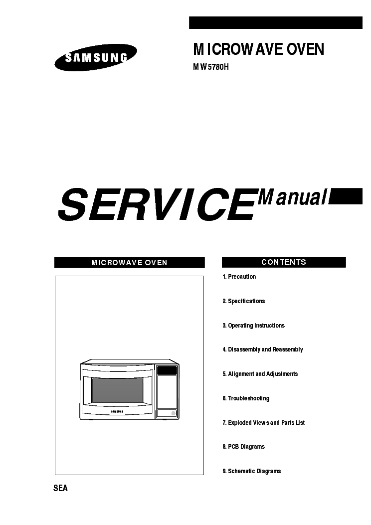 SAMSUNG SR-40-44RMB Service Manual download, schematics