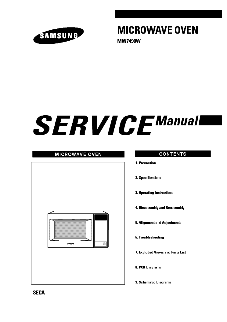 SAMSUNG SC9540 Service Manual download, schematics, eeprom