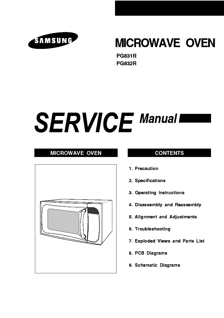 SAMSUNG PG831R PG832R Service Manual free download