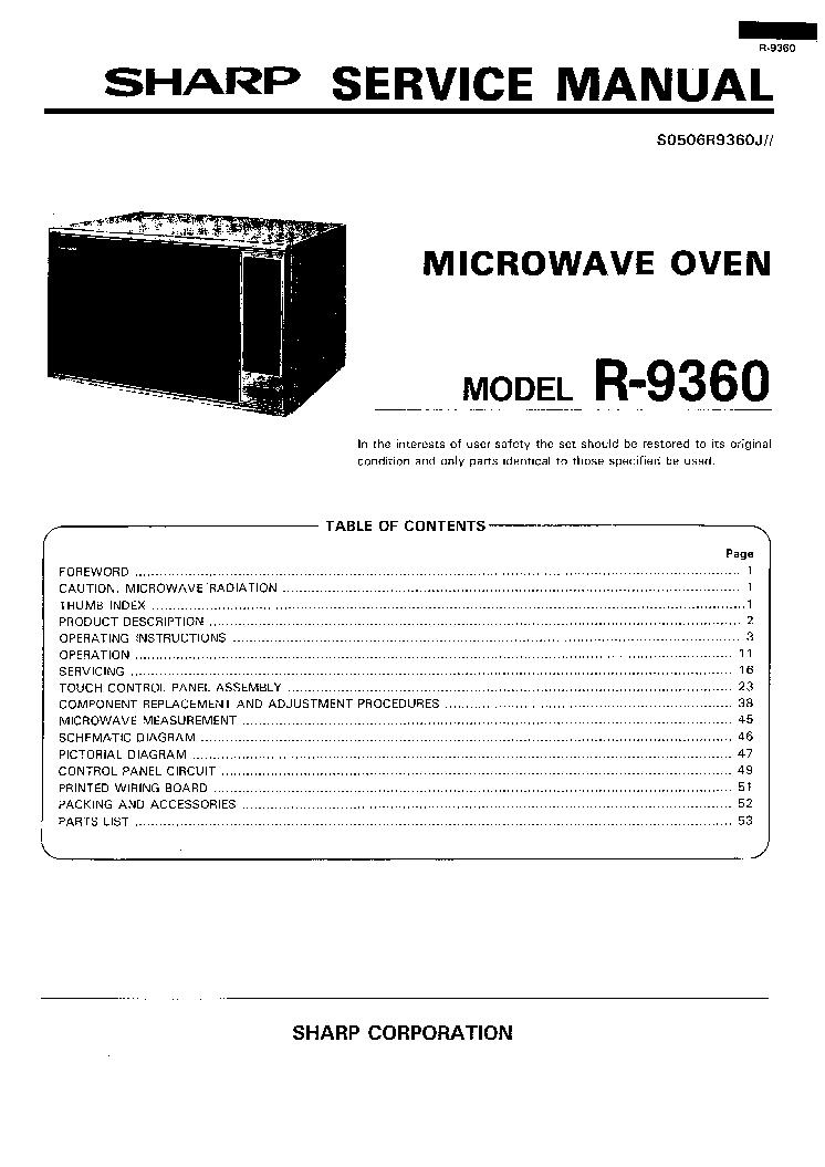 SHARP R2S56 Service Manual free download, schematics