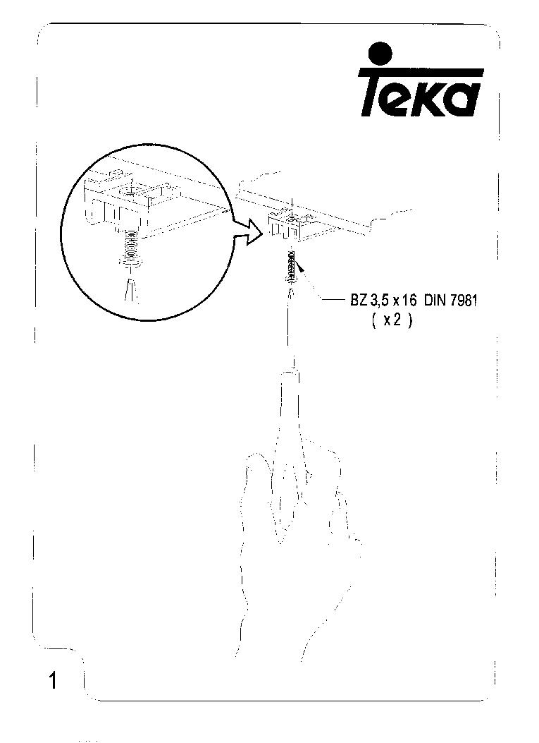 TEKA MW-BI INSTALLATION Service Manual download
