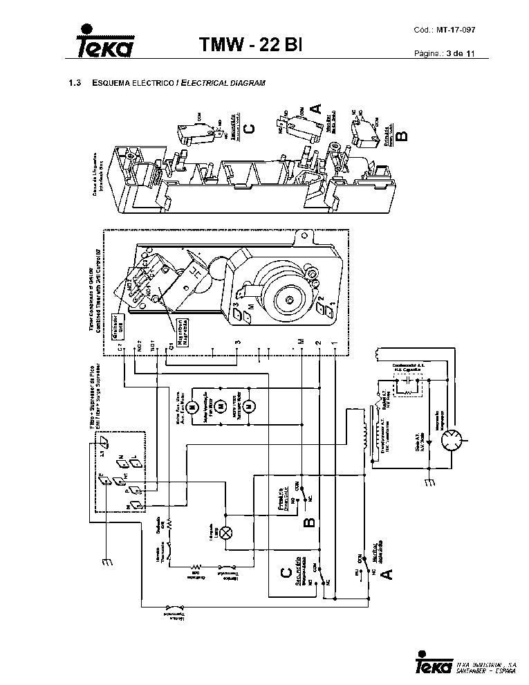 TEKA TMW-22 BI VR06 Service Manual download, schematics