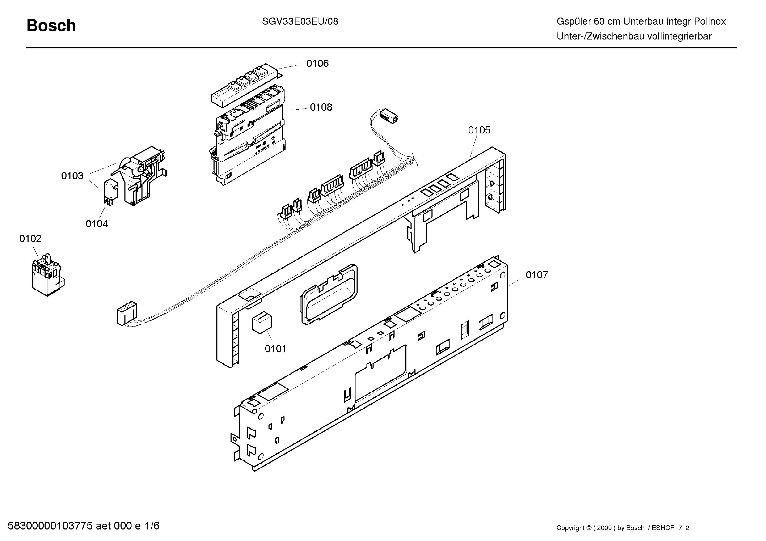BOSCH SGS55E92EU-33 Service Manual download, schematics