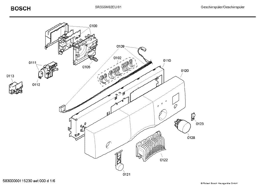 BOSCH SRS55M02EU-01 Service Manual download, schematics