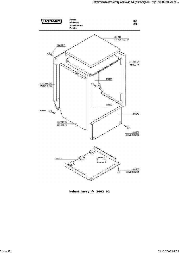 HOBART LAVAG FX2002 SM Service Manual download, schematics