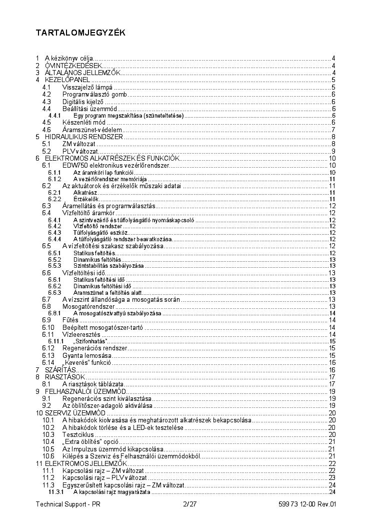 ELECTROLUX ESF65040W DISHWASHER SM Service Manual download