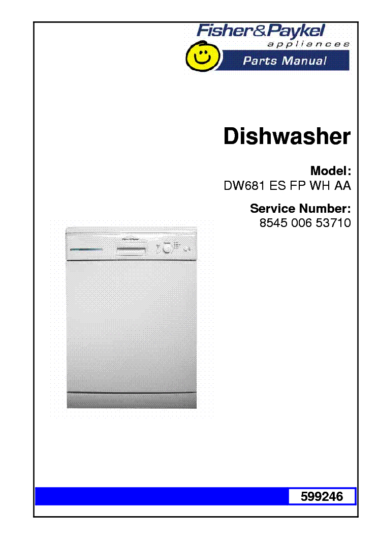 fisher paykel dishwasher parts diagram soft starter panel wiring dw681es 53710 list service manual download 1st page