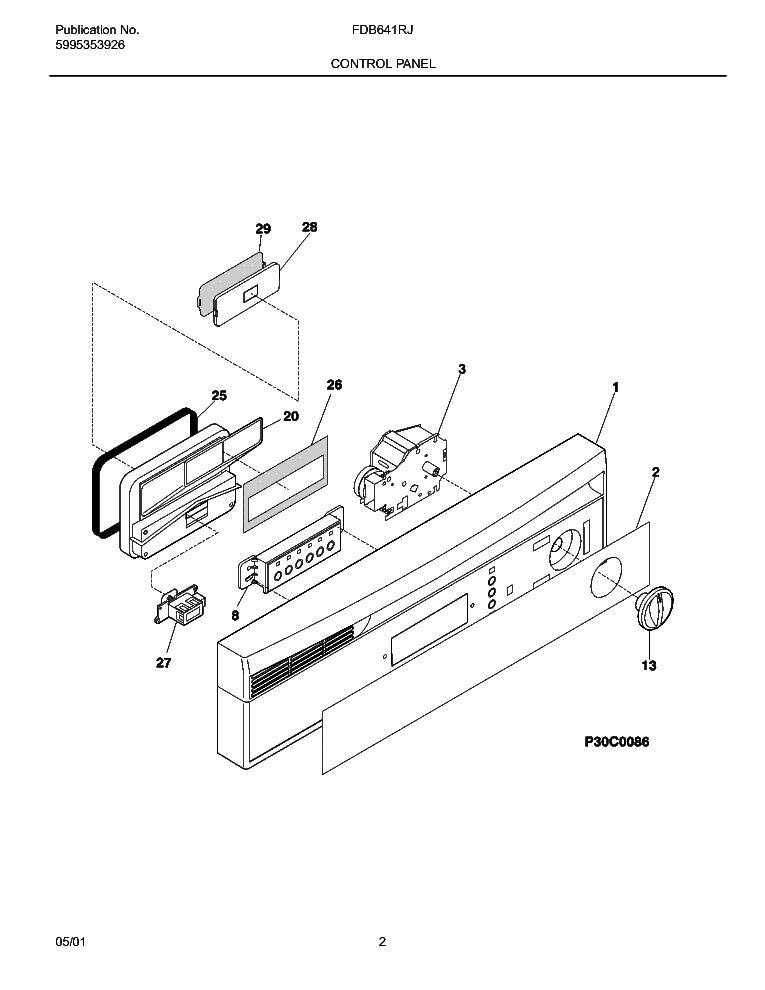 FRIGIDAIRE FDB641RJ Service Manual download, schematics