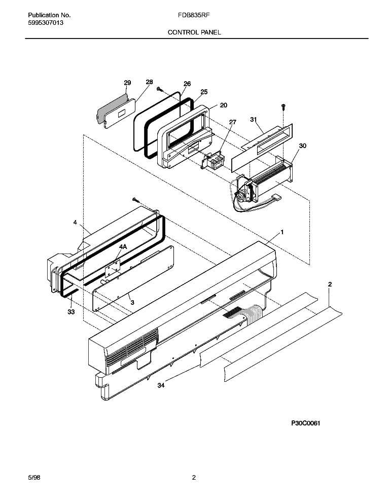 FRIGIDAIRE FDB835RFT0 Service Manual download, schematics