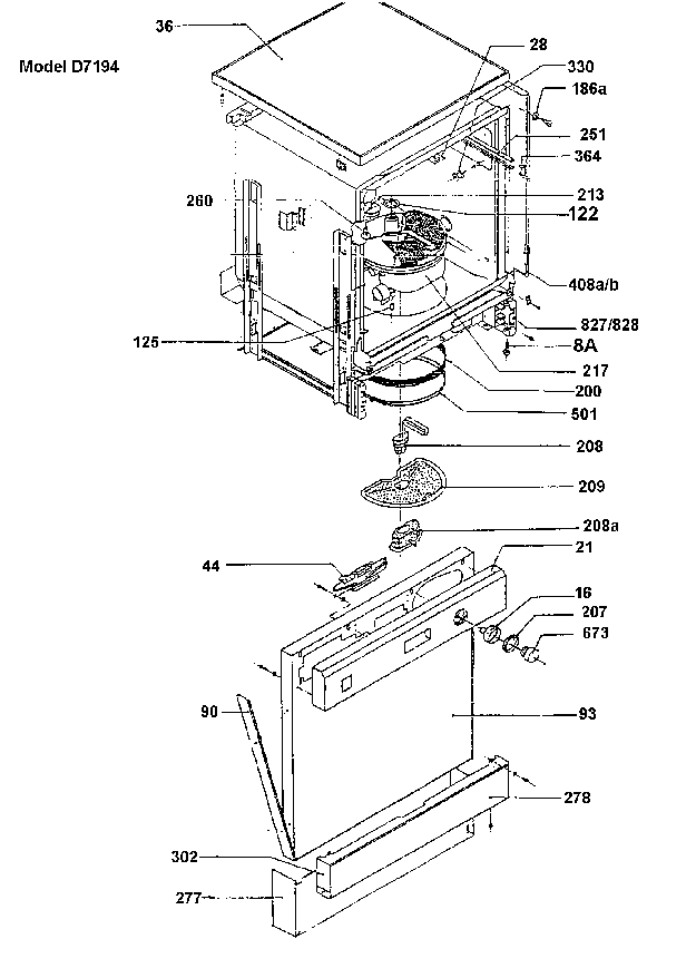 HOOVER D7194 Service Manual download, schematics, eeprom