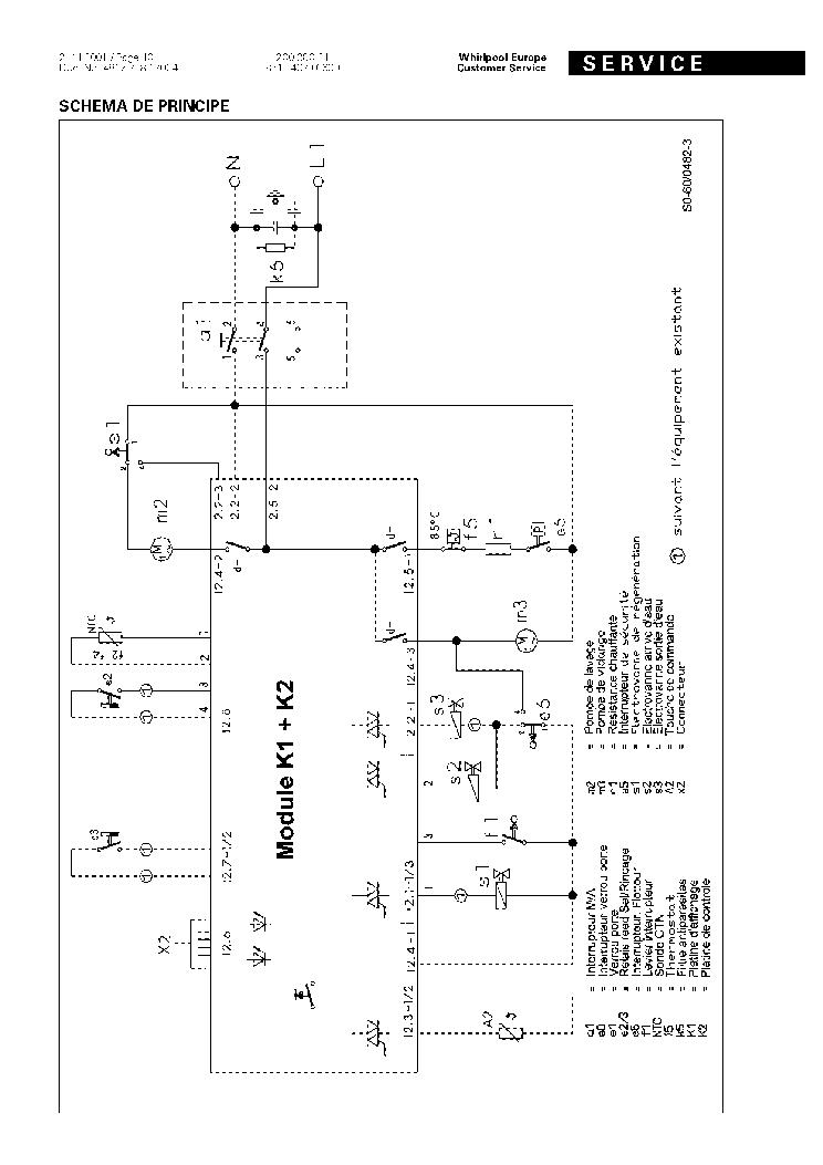 WHIRLPOOL DWF407-W SCH Service Manual download, schematics