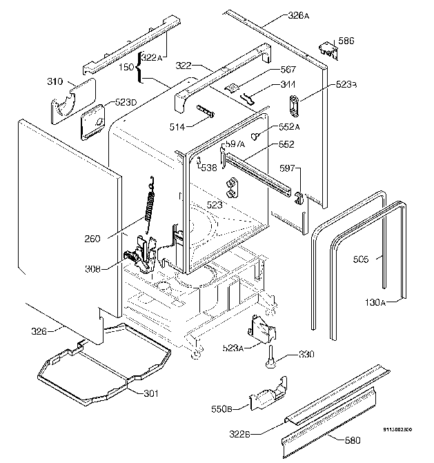 ZANUSSI DTI6726 EXPLODED VIEWS Service Manual download