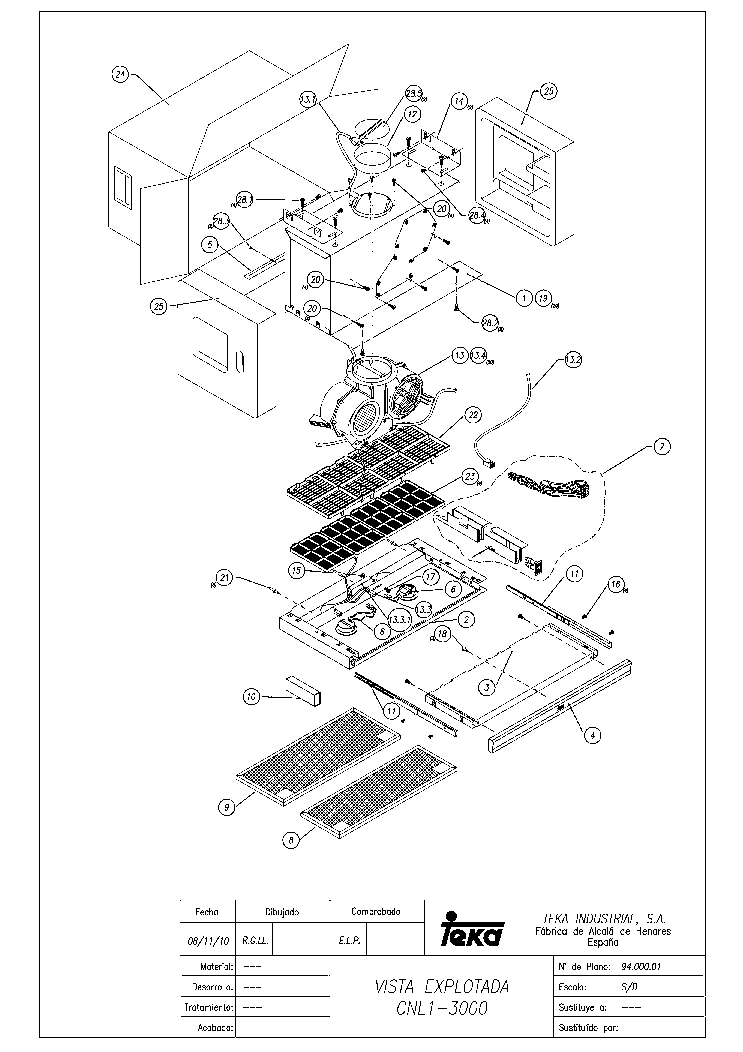 TEKA CNL13000 INOX HP Service Manual download, schematics