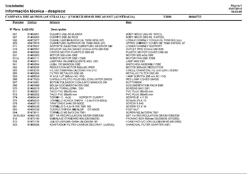 TEKA HA-820 VR01 Service Manual download, schematics