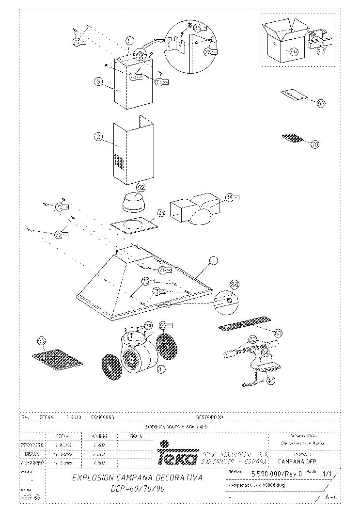 TEKA DEP 60 NEGRO Service Manual download, schematics