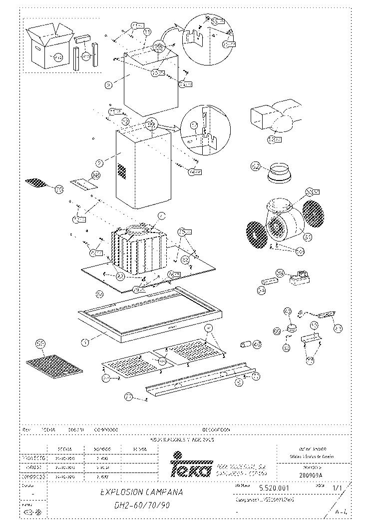 TEKA DH2 60 INOX Service Manual download, schematics