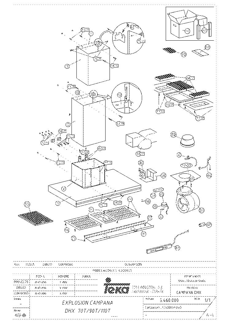 TEKA DHX 70 T INOX E01 Service Manual download, schematics