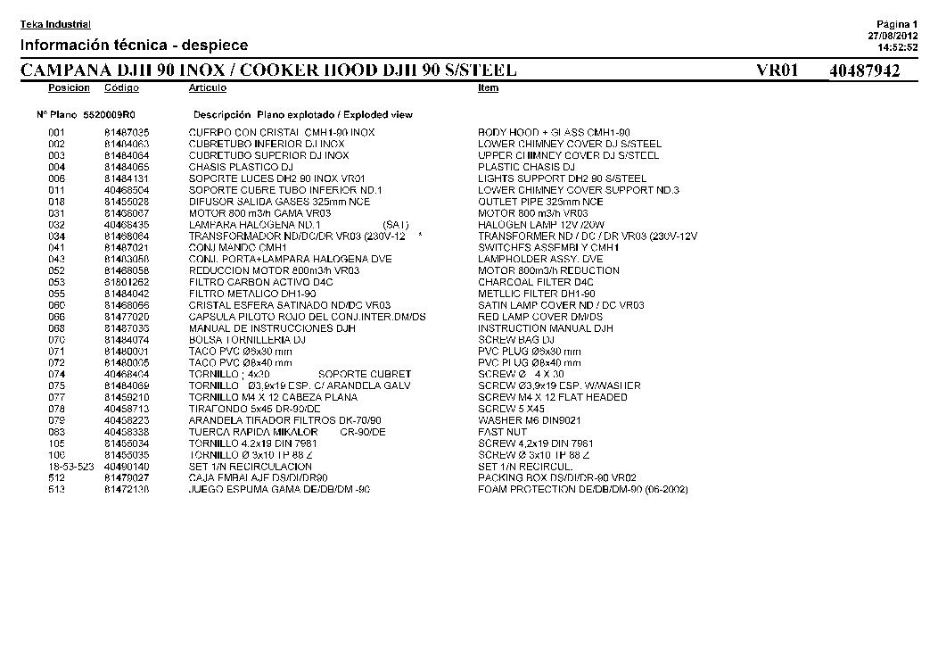 TEKA TR-50.1 416 Service Manual download, schematics