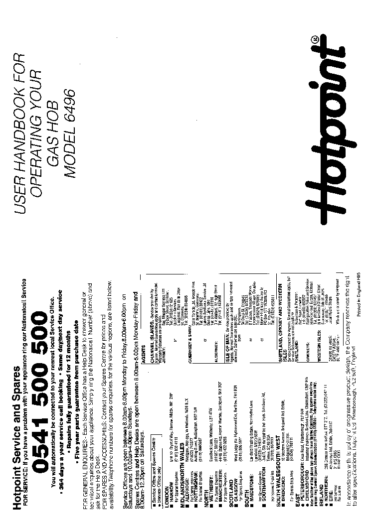 HOTPOINT FF175BG Service Manual download, schematics