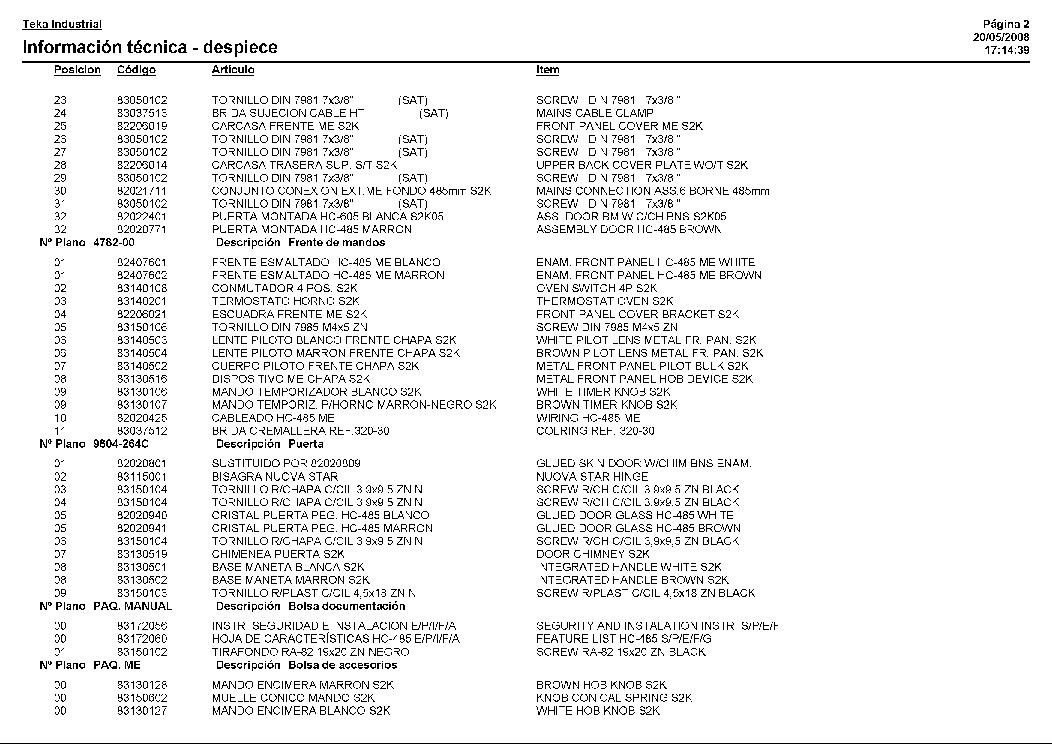 TEKA HC-485 ME 505 Service Manual download, schematics