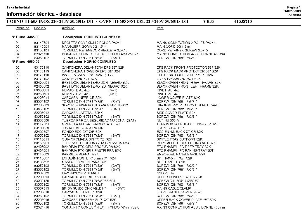 TEKA LP-740.1 947 Service Manual download, schematics