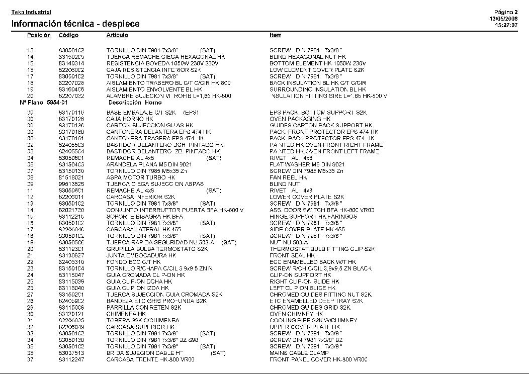 TEKA HK-750 VR00 Service Manual download, schematics