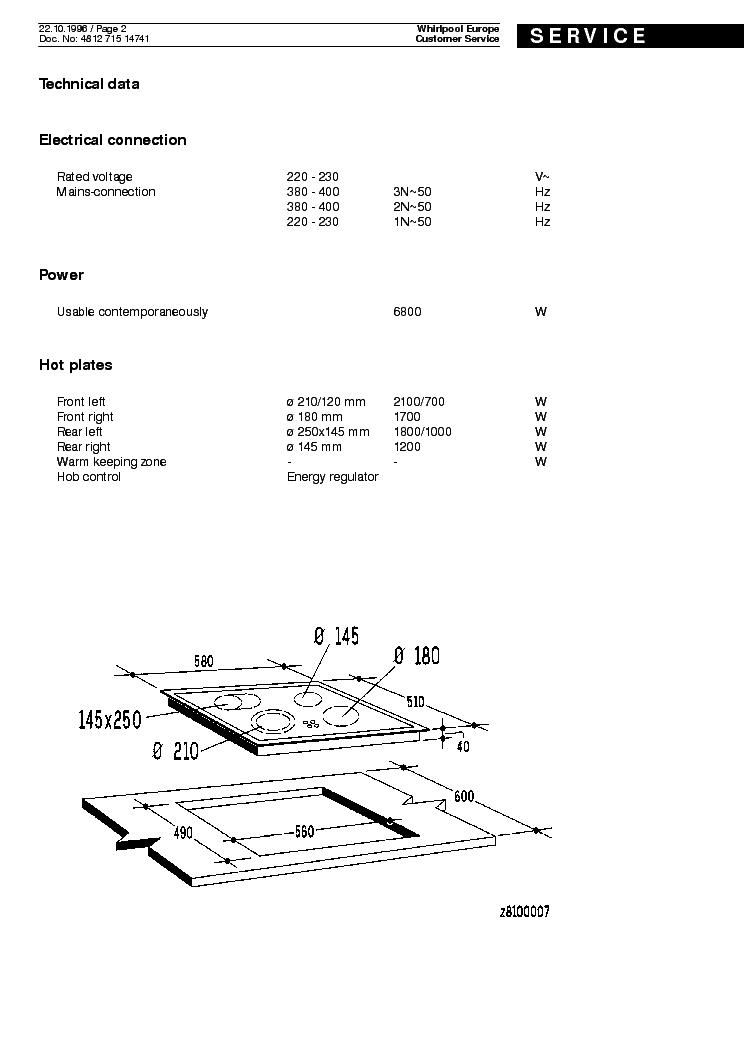 WHIRLPOOL AKM611AV WP Service Manual download, schematics
