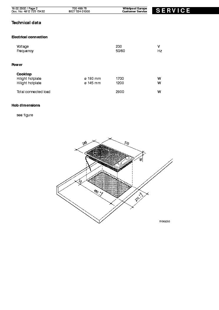WHIRLPOOL IKEA HOB 400 S Service Manual download