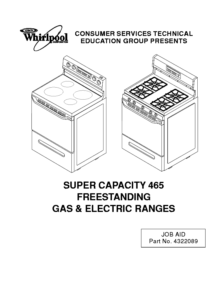 WHIRLPOOL KR-21 SUPER CAPACITY 465 Service Manual download