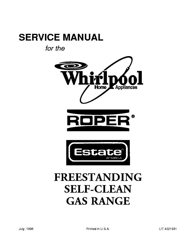 Whirlpool Service Manual Download Free