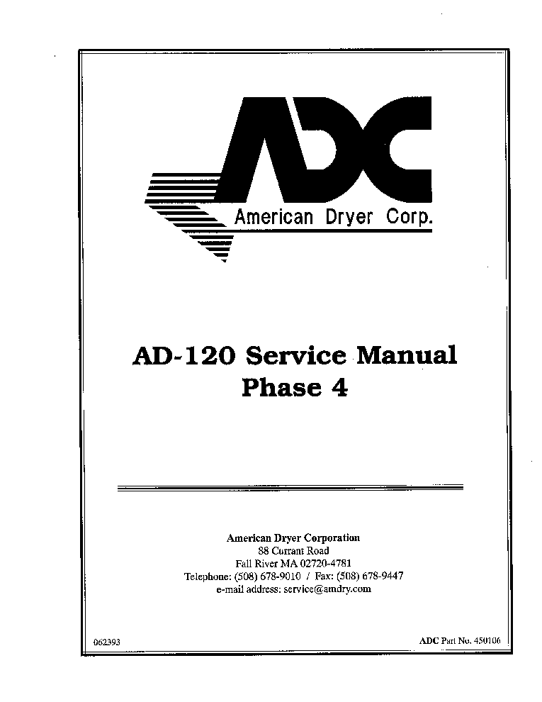 ADC AD-120 PHASE4 Service Manual download, schematics