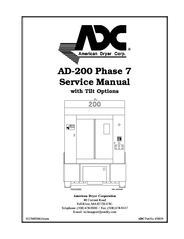 ADC AD-200 PHASE7WITHTILTOPTIONS Service Manual download