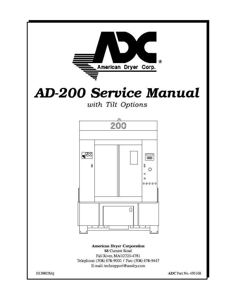 ADC UD-50 1989-1991 Service Manual download, schematics