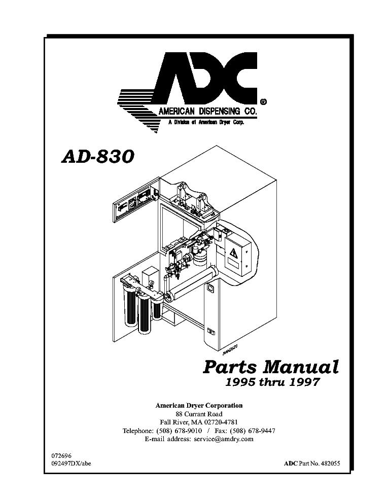ADC AD-120ES PHASE 7 Service Manual download, schematics