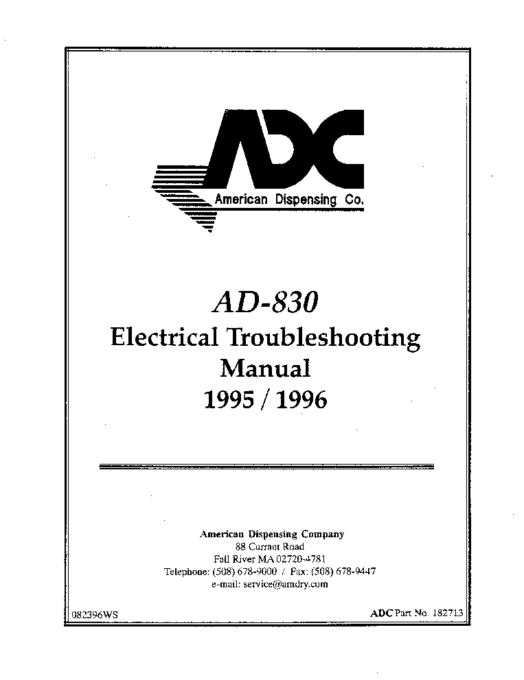 ADC AD-830 ELECTRICAL 1995 1996 Service Manual download