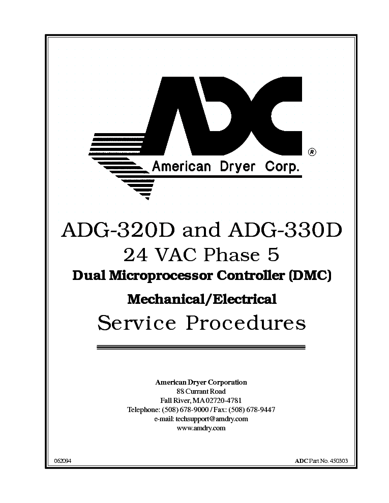 ADC ADG-320D ADG-330D 24VAC PHASE5 DUALMICROPROCESSOR