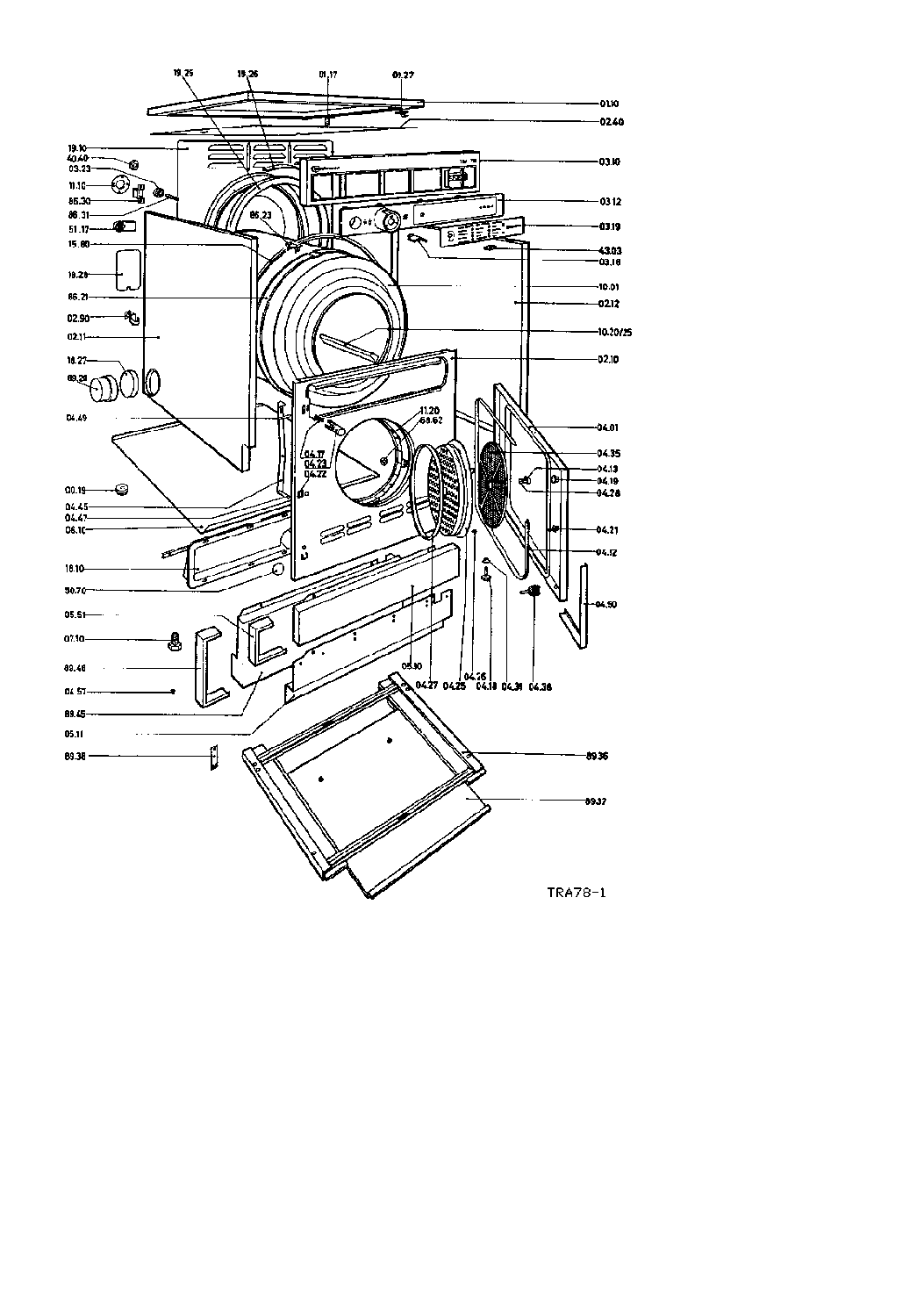 BAUKNECHT TRA 782 PARTS Service Manual download