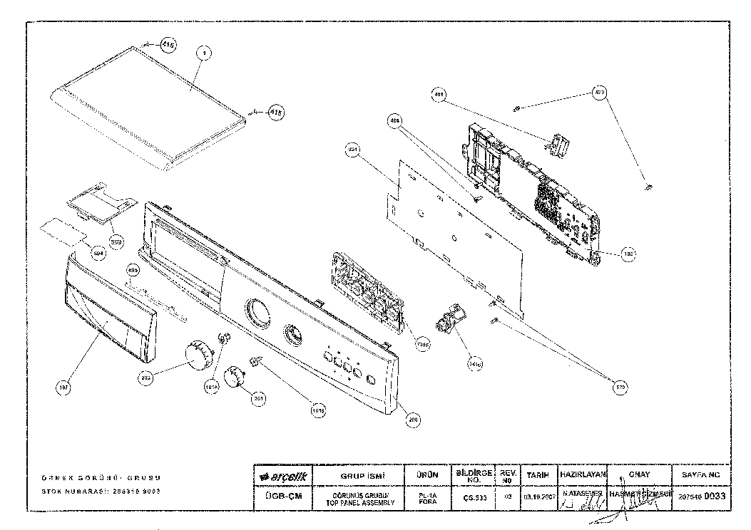 BEKO WML15100P-5 Service Manual download, schematics