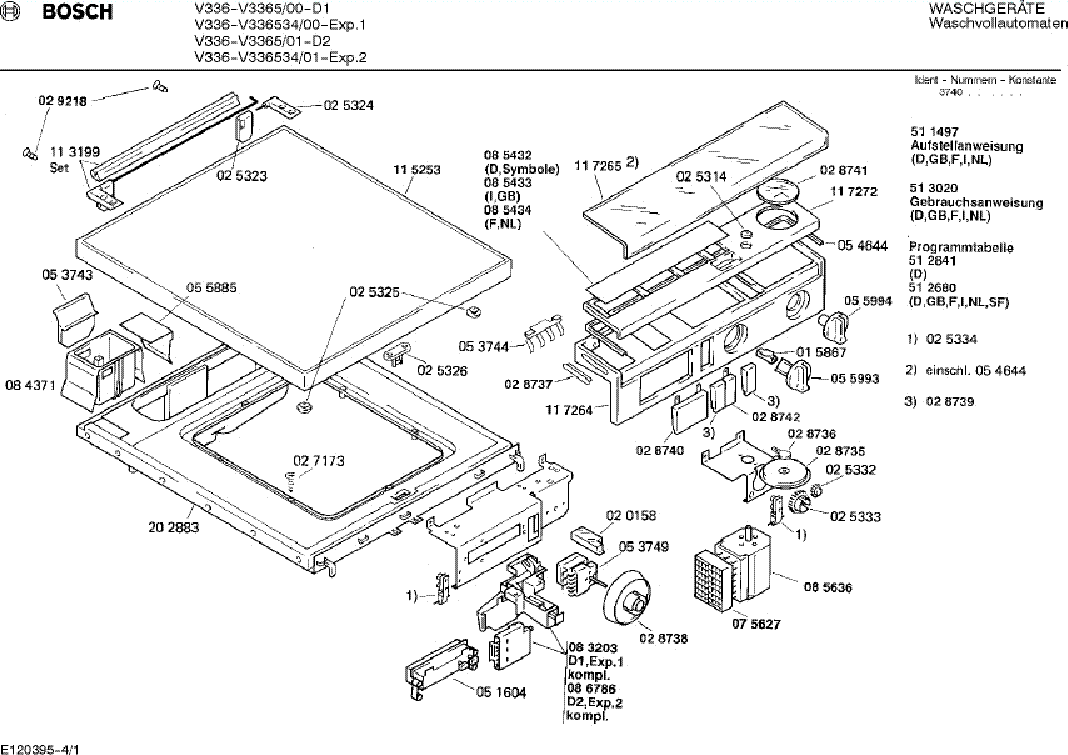 BOSCH SGS43F52EU-09 Service Manual download, schematics