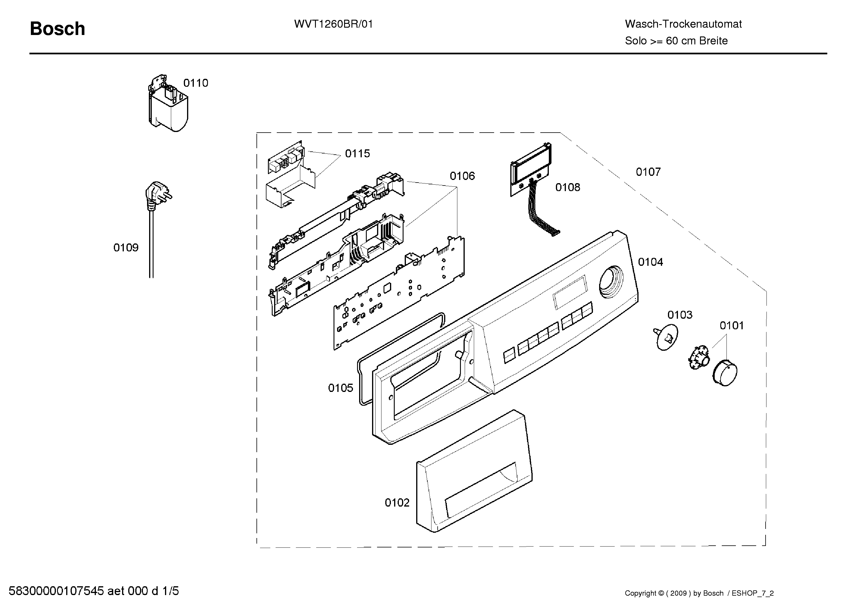 BOSCH WVT1260BR01 Service Manual download, schematics