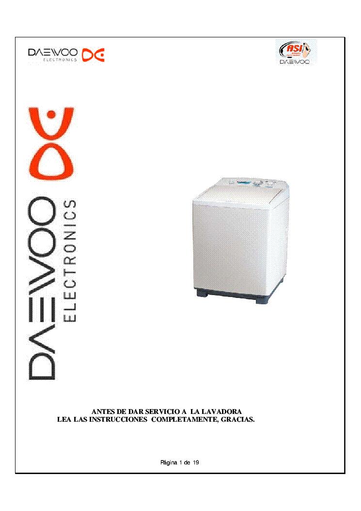 DAEWOO DW-1010 DW-1011 DW-1110 DW-1111 Service Manual