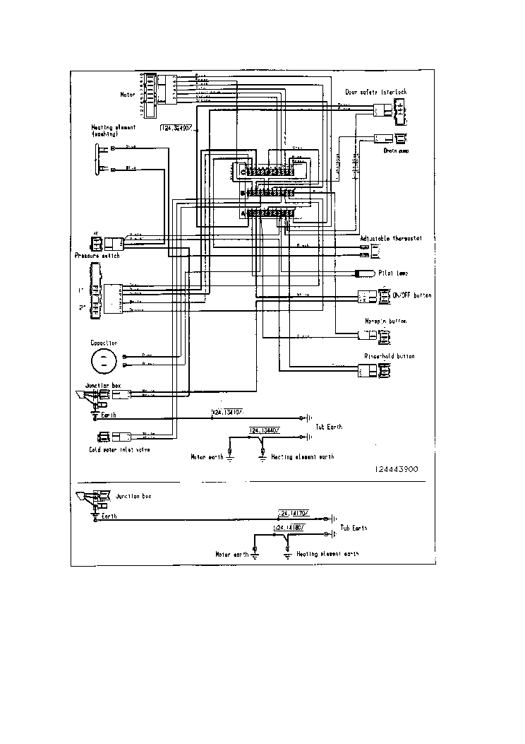ELECTROLUX EW508F 004152IT WIRING DIAGRAM Service Manual
