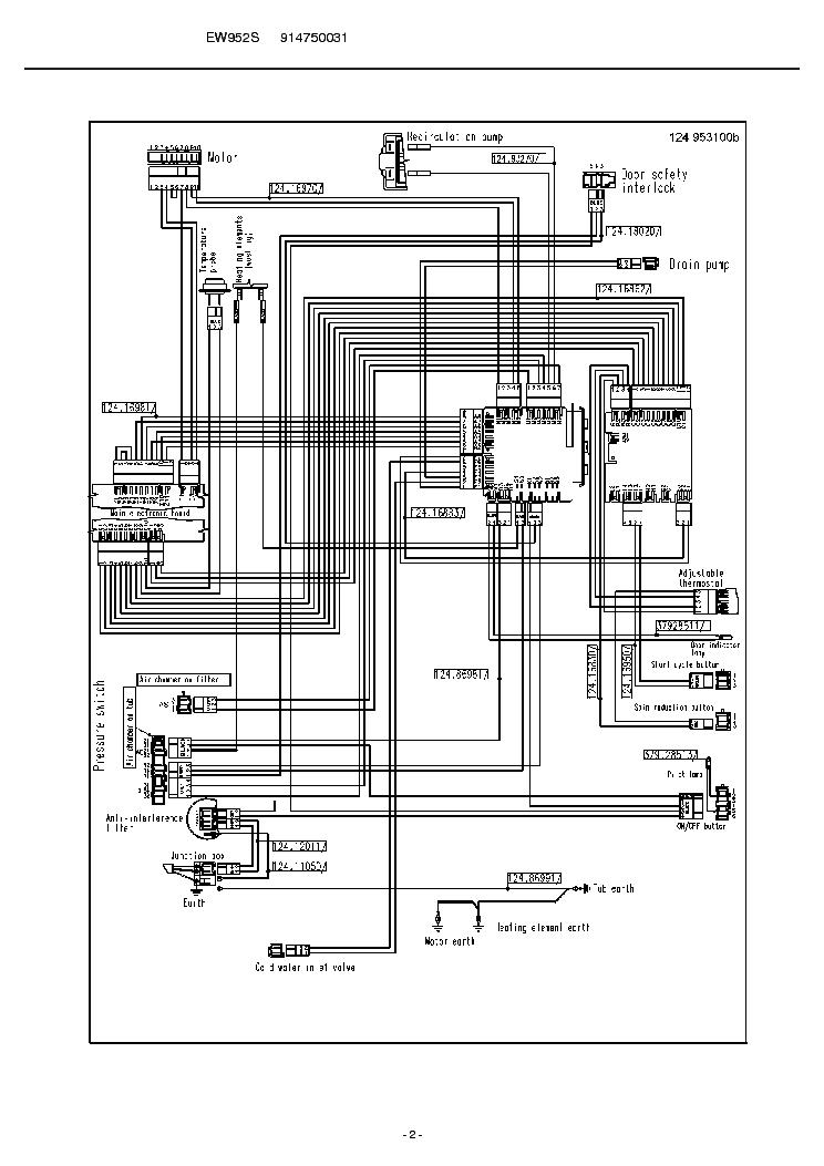 ELECTROLUX EW952S Service Manual download, schematics
