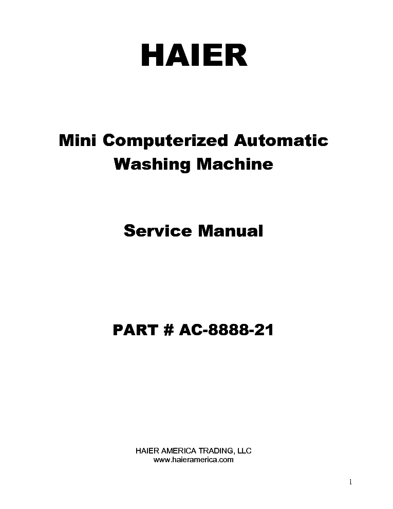 HAIER HLP21E HWM30-22 Service Manual download, schematics