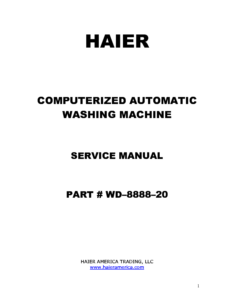 HAIER XQB40-F Service Manual download, schematics, eeprom
