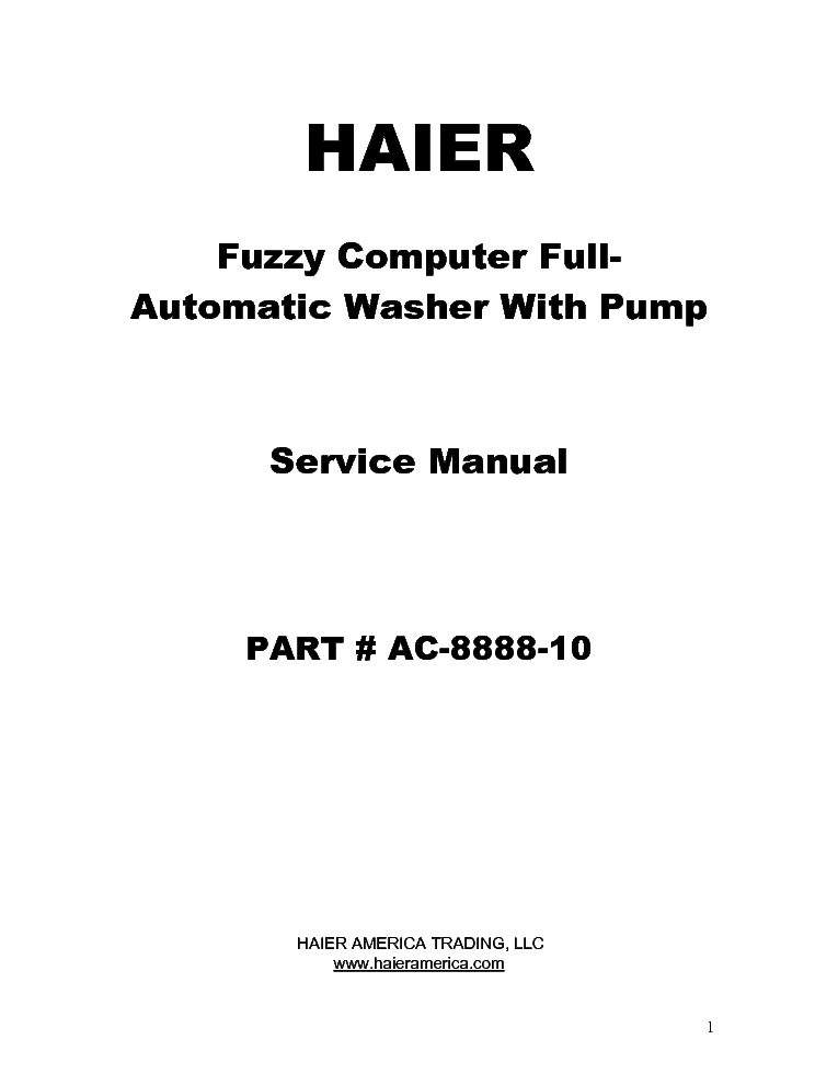 HAIER XQB70-A Service Manual download, schematics, eeprom