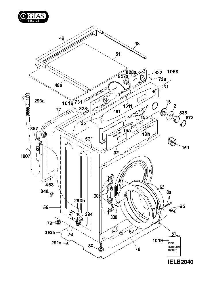 HOOVER AAA140 01 Service Manual download, schematics